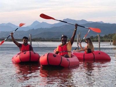 packraft lago di Massaciuccoli